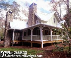 See the Wells Branch Cabin Farmhouse that has 3 bedrooms, 3 full baths and 1 half bath from House Plans and More. See amenities for Plan