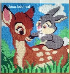 Bambi and Thumper portrait - Disney hama perler beads by NAT42