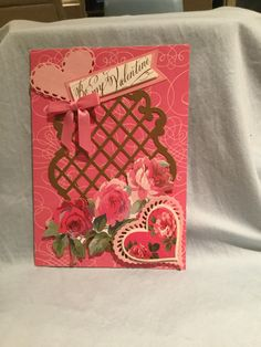 Anna Griffin So Smitten card kit with heart and trellis die cuts.