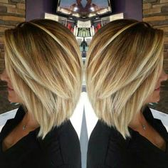 Image result for medium length bob hairstyle with layers thin hair over 40