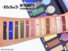 Kat Von D Metal Matte Eyeshadow Swatch