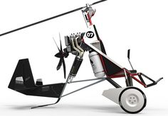 The Fliege - Supergiro is a one seated sportgyrocopter concept. This aircraft is due to the bare, triangular frame design very robust, variable and visually memorable. The pilot's seat is the main par...