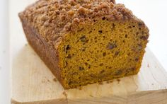 Pumpkin bread made with cream cheese and buttermilk. America's Test Kitchen