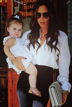 the Beckham girls. Omg, most adorably fashionable child ever.