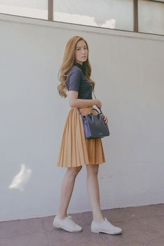 Tricia Gosingtian - Strathberry Bag, Sfera Top, X:Y Skirt, Le Bunny Bleu Shoes - 030816 | LOOKBOOK