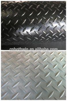 anti-slip 1000mm width diamond rubber roll with pony standard