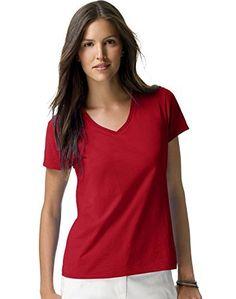 40deff2160 Hanes womens Nano-T V-Neck T-Shirt (S04V)  tshirts