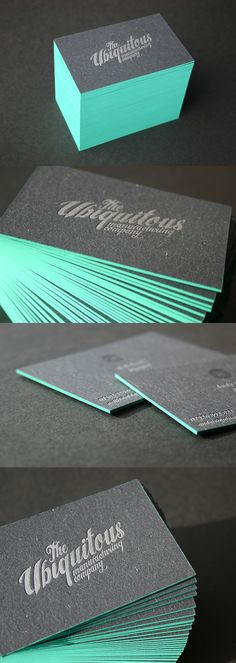 Edge Painted Letterpress Business Card Design