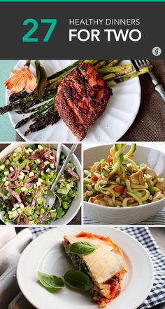 These healthy recipes are perfectly portioned for two servings.