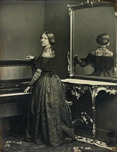 """Jenny Lind, 1848, by William Edward Kilburn - famous in the """"Old West"""" travelling from town to town singing."""