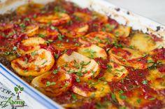 Musaca de cartofi cu ciuperci la cuptor - Arome de poveste