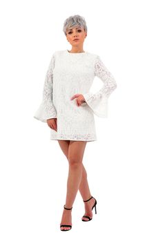 This cute little white, lace dress will definitely steal your heart. Perfect for a cocktail party in the sunny spring. Please check our size chart before placing the order. If you have doubts or questions about it DO NOT HESITATEto contact us! We are here to help you! Little White, White Lace, Sunnies, Lace Dress, Size Chart, Bell Sleeve Top, Cold Shoulder Dress, Cocktail, This Or That Questions