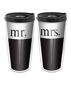 Look at this 'Mr.' & 'Mrs.' 16-Oz. Tumbler Set on #zulily today!