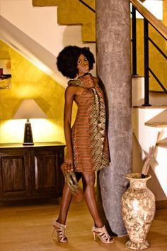 Dress of a beautiful African print   Afrodesiac Worldwide Sisters