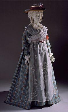 Woman's Dress, France or England,  textile: c1770; dress: c1785-1790. LACMA…