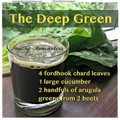 "I have found that chard is a wonderful juicing green. They offer a high juice yield because of the juicy leaf stem. Each leaf is large, offering a ton of surface area for chlorophyll and sun energy absorption. When juiced they don't have a bitter ""green flavor"". They compliment nearly every fruit I have juiced. If you have never tried experimenting with juicing chard I highly suggest it!  The Deep Green is a great spicy blend and the first blend that it entirely picked from the garden. It"