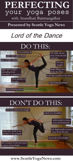 Are you looking to perfect your Lord of the Dance yoga pose (Natarajasana)? Follow this visual guide to ensure you are doing this yoga pose just right.