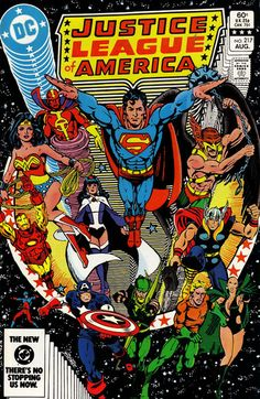 Leaguers Assemble!  Mashed covers:  Justice League of Ameria #217  Avengers #150