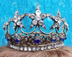 Vintage Santos crown for Virgin Mary or saint shabby crown diadem hair accessory headdress headpiece hair ornament