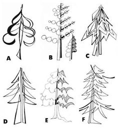 some ways to say tree - love this!  could easily be done with color, construction paper...  or all in black and white, still.