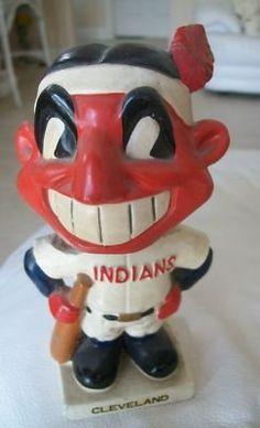 Cleveland Indians Baseball, Pro Baseball, Team Mascots, My Town, Cleveland Browns, Long Live, Bobble Head, Mlb, Ohio