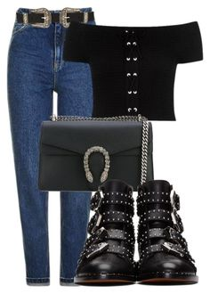 Untitled #1496 by morggz on Polyvore featuring Topshop, Givenchy and Gucci