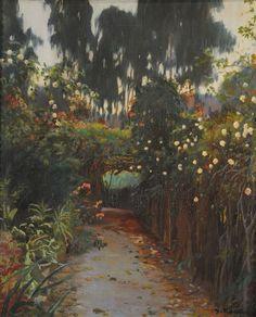 Santiago Rusiñol  (1861-1931),  Camino de rosas,  Museo Nacional de Bellas Artes, Argentina