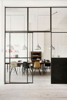 basil green pencil: Interior Design Trend: Glass Room Divider