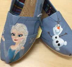 Frozen | Community Post: 25 Beautifully Hand-Painted TOMS For Every Fandom