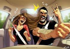 Un artiste illustre la vie quotidienne avec sa femme dans les bandes dessinées