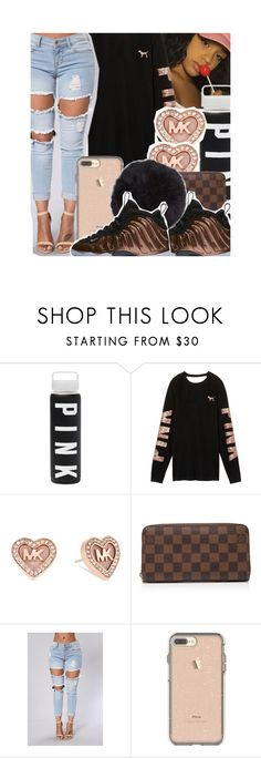 """rose gold "" by qveen-jen ❤ liked on Polyvore featuring Michael Kors, Louis Vuitton, NIKE and Humble Chic"