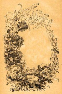 Vintage Botanical Frame