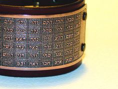 72 Names of God, Kabbalah bracelet, Hebrew, mens leather bracelet. Natural cowhide leather (vegetable tanned, hand-dyed) and etched copper. Cowhide Leather, Leather Men, Names Of God, Copper Bracelet, Needful Things, Leather Jewelry, Bracelets, Stuff To Buy, Etsy