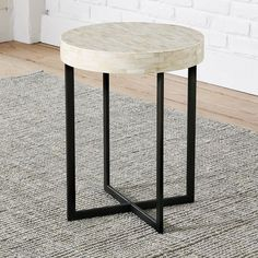 West Elm Bone Side Table | http://www.westelm.com/products/bone-side-table-g088/?bnrid=3917500&cm_ven=AfCmtyCont&cm_cat=VigLink&cm_pla=CJ&cm_ite=Std