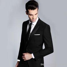 Wholesale cheap men's suits online, gender - Find best new style shiny groom tuxedos peak lapel groomsmen best man mens wedding suits…