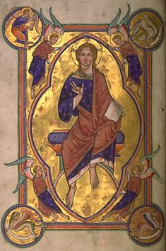 Christ in Majesty   from the Aberdeen Bestiary (folio 4v)
