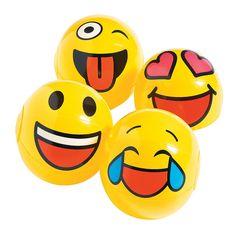 Mini+Inflatable+Emoji+Beach+Balls+-+OrientalTrading.com