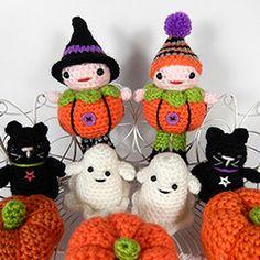 Pumpkin patch people amigurumi crochet pattern by Janine Holmes at Moji-Moji Design