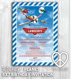 Disney Planes 5x7 Printable Birthday Invitation by PeaceLovePrint