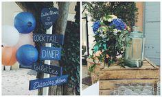 Mariage en Provence J&O - décoration Cigales et Petits Fours - Mariage en bleu