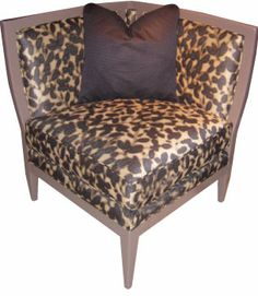Abstract Art: A distinctive blurred effect lends an abstract quality to Century's corner chair. October 2013 #hpmkt