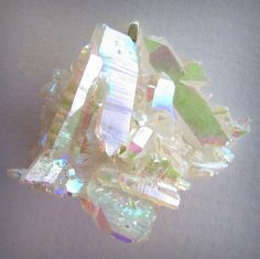 TITANIUM SUNSHINE GHOST AURA DRUZY OPAL/PEARL QUARTZ CRYSTAL CLUSTER PENDANT @Jennifer Harrison
