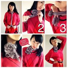 KNOT JUST A SCARF — Scarf tying tutorial #67: Rosette Choker. It's...