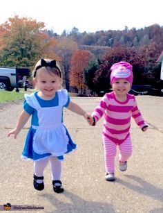 Stacy: Twins Margaret and Charlotte from Charleston, West Virginia as Alice in Wonderland and Cheshire Cat.