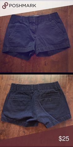 J. Crew Chino shorts Navy J. Crew chino shorts in excellent condition, just no longer fit. J. Crew Shorts