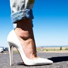white and sexy shoes www.ScarlettAvery.com