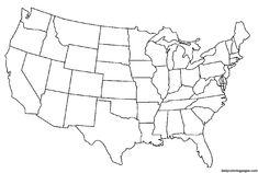 2 Page United States Map intended for United States Map Template Blank States And Capitals, United States Map, 50 States, States America, Flag Coloring Pages, Printable Coloring Pages, Coloring Sheets, Kids Coloring, Coloring Book