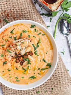 Roasted Cauliflower Soup with Garlic - Gluten Free and Vegan