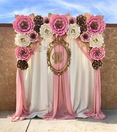 Baby shower themes for girls princess paper flowers 19 ideas Paper Flower Decor, Paper Flower Backdrop, Flower Decorations, Paper Flowers, Wedding Decorations, Shower Party, Baby Shower Parties, Baby Shower Themes, Baby Shower Backdrop