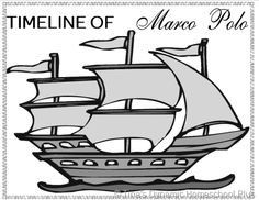 Free Extend a Timeline Book Marco Polo Unit Study